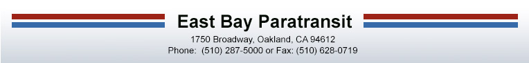 East Bay Paratransit