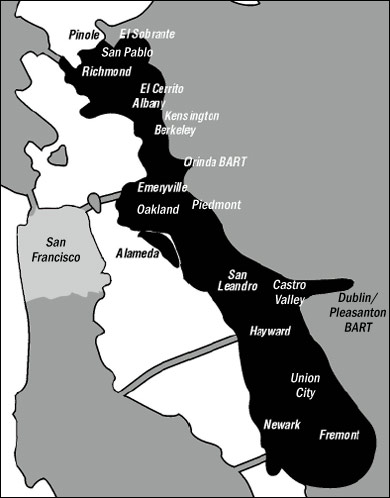 East Bay map